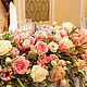 Интерьерные композиции ручной работы. Оформление свадьбы в розово-кремовой гамме. Платонова Татьяна (flowercharm). Ярмарка Мастеров. Розовая свадьба