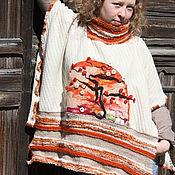 Одежда ручной работы. Ярмарка Мастеров - ручная работа Пончо Сакура. Handmade.