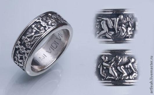 """Кольца ручной работы. Ярмарка Мастеров - ручная работа. Купить Серебряное кольцо """"Кама сутра"""" для тех, кто любит любовь. Handmade."""