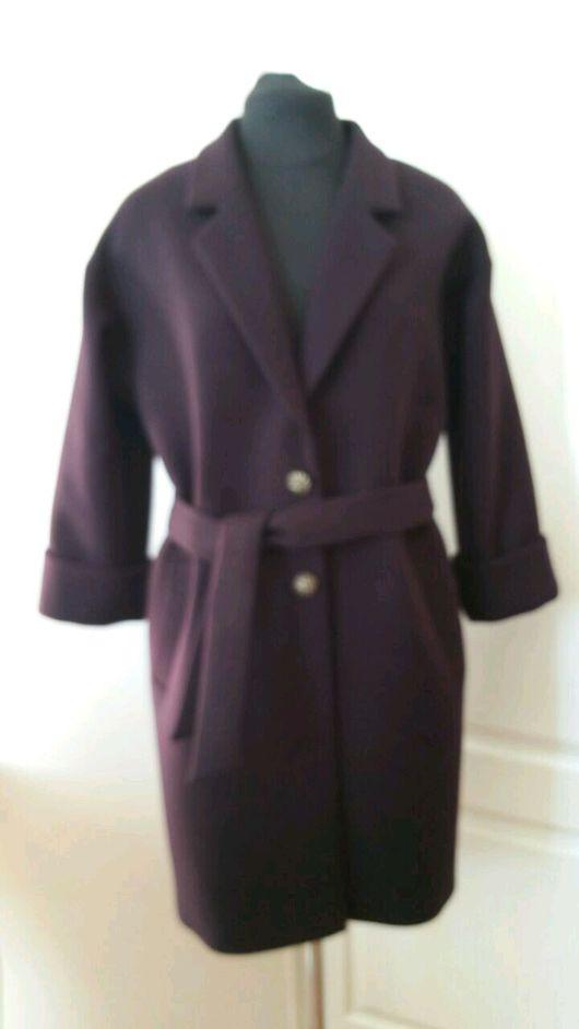 Верхняя одежда ручной работы. Ярмарка Мастеров - ручная работа. Купить Женское прямое пальто весна-осень 0916. Handmade.