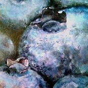 Картины ручной работы. Ярмарка Мастеров - ручная работа Космическая черника Картина акрилом (голубой темно-синий). Handmade.