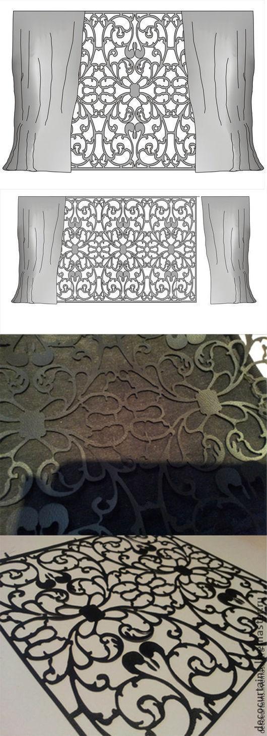 Текстиль, ковры ручной работы. Ярмарка Мастеров - ручная работа. Купить Панно-шторка из ткани на плотной основе. Handmade. Белый