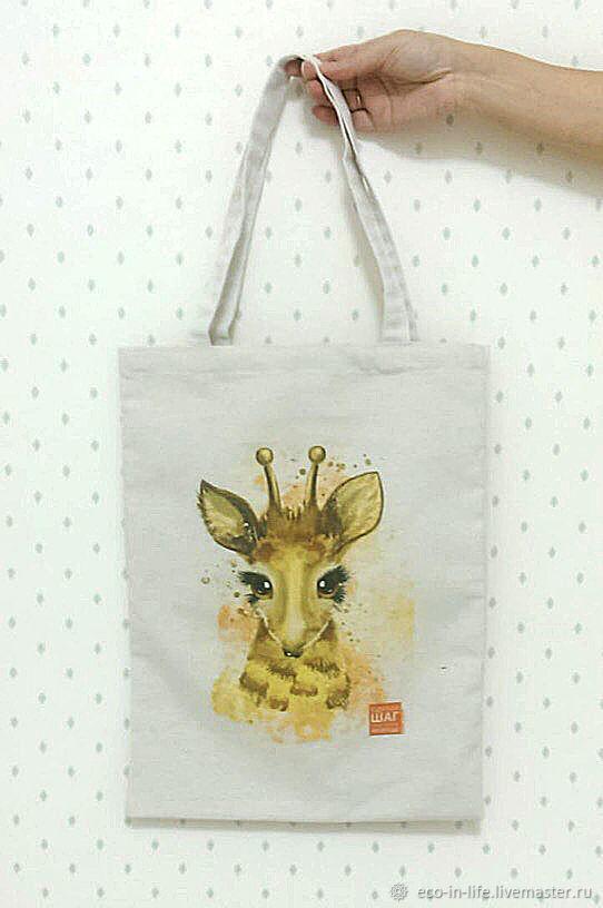 Экосумка-шоппер «Жираф»