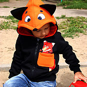 Одежда handmade. Livemaster - original item Children`s hoodie Fox hoodie with ears. Handmade.