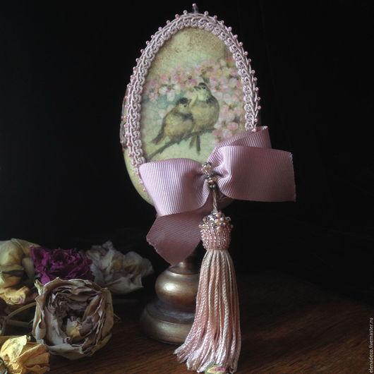 """Подарки на Пасху ручной работы. Ярмарка Мастеров - ручная работа. Купить """" Весенние трели """" Интерьерное Пасхальное Яйцо. Handmade."""