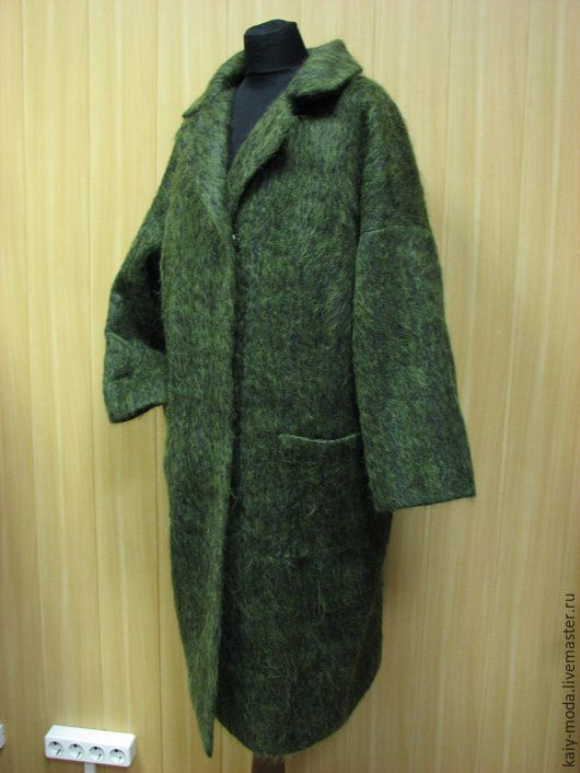Winter mohair coat, 'pine forest', Coats, Moscow,  Фото №1