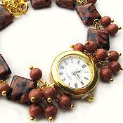 """Украшения ручной работы. Ярмарка Мастеров - ручная работа """"Золотой песок"""" наручные часы с авантюрином. Handmade."""
