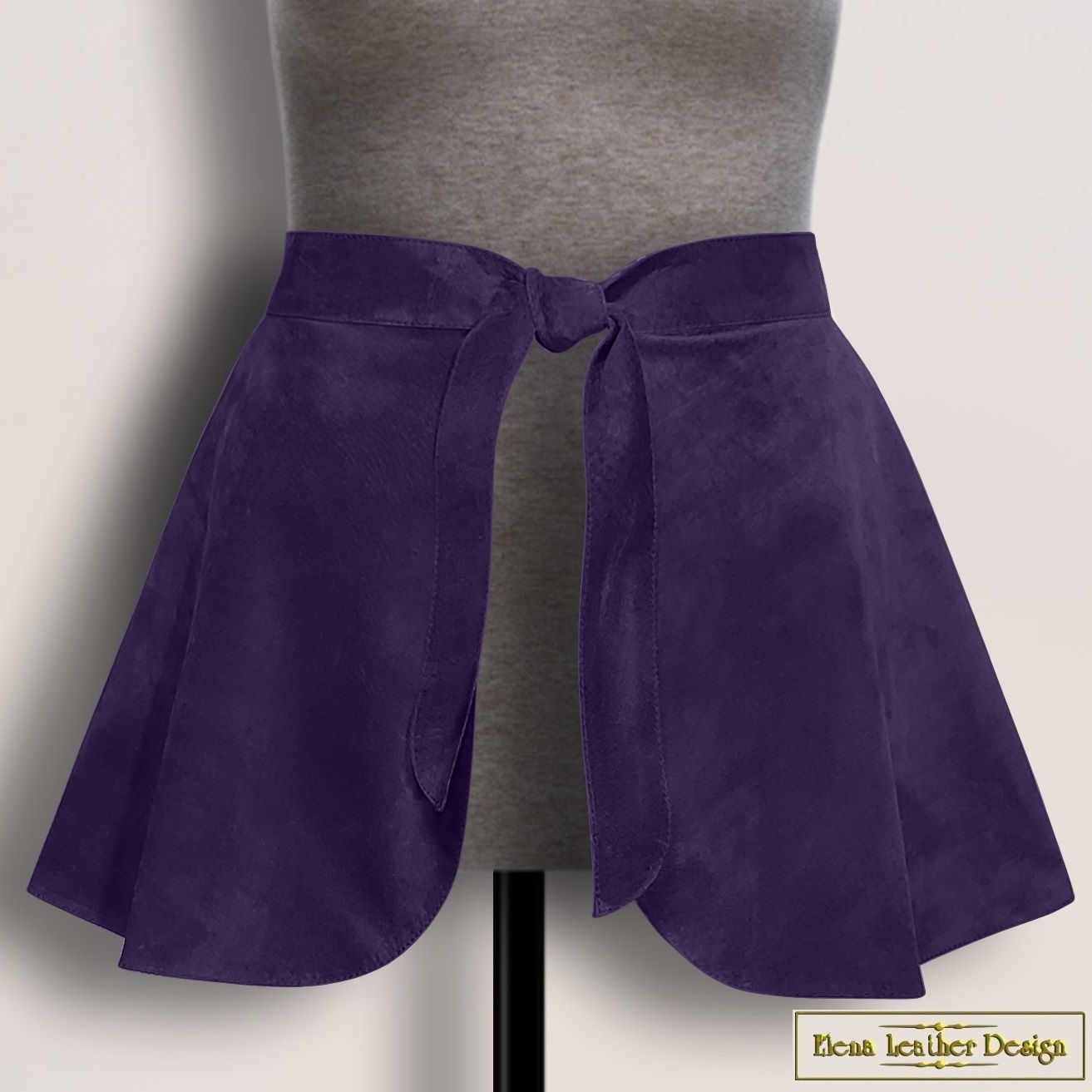 Peplum belt 'Oia' made of genuine suede or leather (any color), Belt, Rodniki,  Фото №1