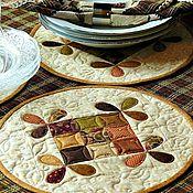 Для дома и интерьера ручной работы. Ярмарка Мастеров - ручная работа Салфетки столовые или ланч-маты Медовые пэчворк. Handmade.