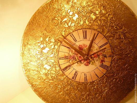 Часы для дома ручной работы. Ярмарка Мастеров - ручная работа. Купить Часы настенные Винтажная бронза. Handmade. Золотой