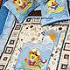 """Детская ручной работы. Ярмарка Мастеров - ручная работа. Купить Зимний комплект """"Морячок"""". Handmade. Лоскутное одеяло"""
