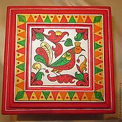 Шкатулки ручной работы. Ярмарка Мастеров - ручная работа Шкатулка деревянная расписная для украшений ,для мелочей. Handmade.