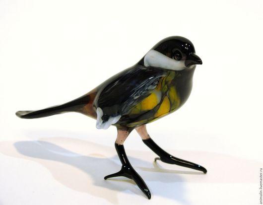 Статуэтки ручной работы. Ярмарка Мастеров - ручная работа. Купить Интерьерная фигурка из цветного стекла птицы  Мухоловка Агнесса. Handmade.