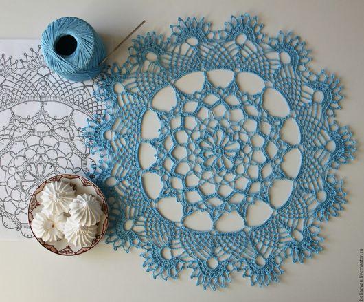 Текстиль, ковры ручной работы. Ярмарка Мастеров - ручная работа. Купить Салфетка крючком Голубые сны. Handmade. Голубой