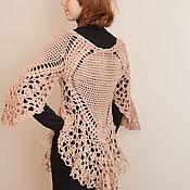 Одежда ручной работы. Ярмарка Мастеров - ручная работа Кофта с кружевом и широкими рукавами. Handmade.
