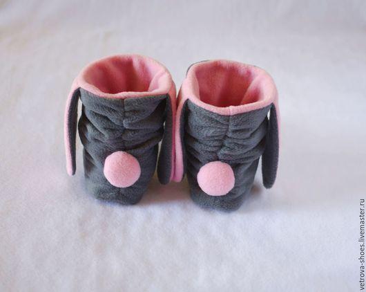 """Обувь ручной работы. Ярмарка Мастеров - ручная работа. Купить Тапочки-зайки  """"Нежность"""". Handmade. Серый, домашние тапочки, угги"""