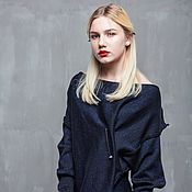 Одежда handmade. Livemaster - original item GGA_030 Blouson, black mechanic blue/black. Handmade.