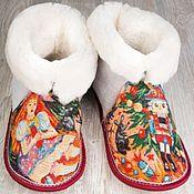 """Обувь ручной работы. Ярмарка Мастеров - ручная работа Чуни из овчины """"Щелкунчик"""". Handmade."""