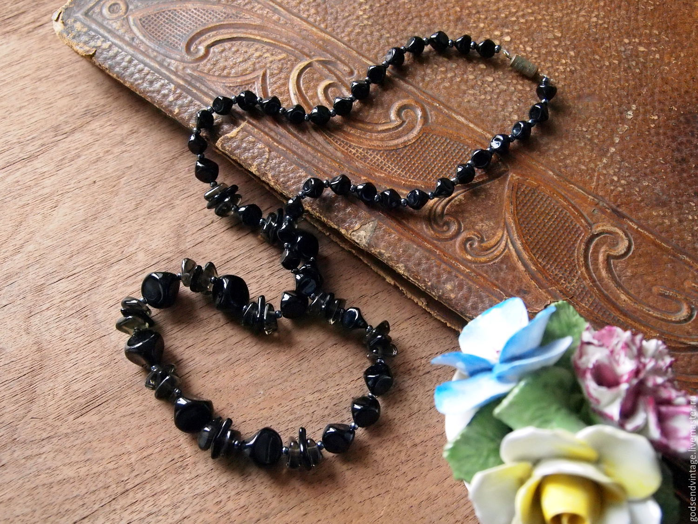 Vintage glass beads, Vintage necklace, St. Petersburg,  Фото №1