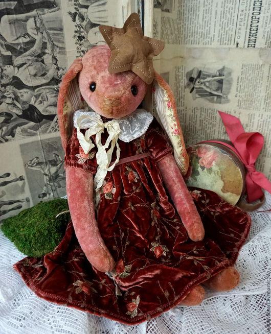 """Мишки Тедди ручной работы. Ярмарка Мастеров - ручная работа. Купить Зайка """"Малиновая пенка"""". Handmade. Розовый, тедди, подарок"""