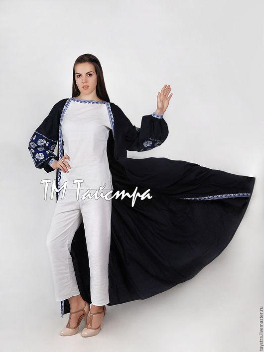 """Платья ручной работы. Ярмарка Мастеров - ручная работа. Купить Платье лен с вышивкой """"Арабика"""", бохо, этно, восточный стиль,комплект. Handmade."""