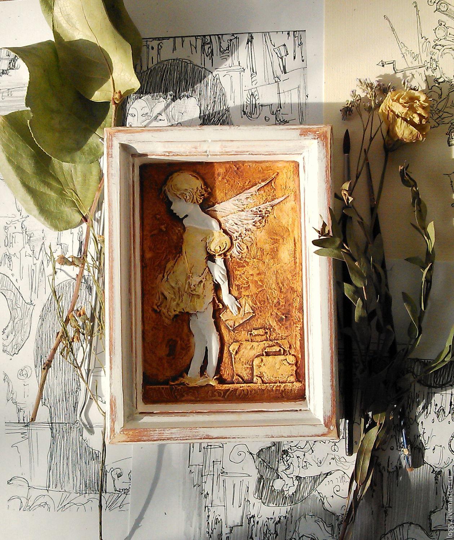 Символизм ручной работы. Ярмарка Мастеров - ручная работа. Купить Панно Ангел. Handmade. Ангел, подарок девушке, для интерьера