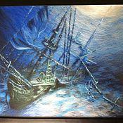 """Картины и панно ручной работы. Ярмарка Мастеров - ручная работа картина из шерсти """"А."""". Handmade."""