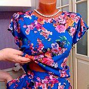 Одежда ручной работы. Ярмарка Мастеров - ручная работа Платье-костюм из штапеля Анабель. Handmade.