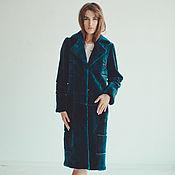 Одежда handmade. Livemaster - original item Women beaver fur coat in blue. Handmade.