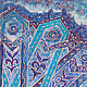 """scarf with ornaments, a series of """"East Karusel"""" detail"""