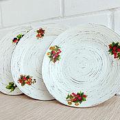 """Посуда ручной работы. Ярмарка Мастеров - ручная работа Настенные тарелки """"Ягодный букет"""".. Handmade."""