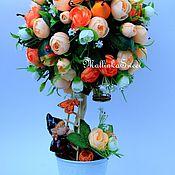 """Цветы и флористика ручной работы. Ярмарка Мастеров - ручная работа топиарий , дерево счастья """"Оранжевое настроение"""". Handmade."""