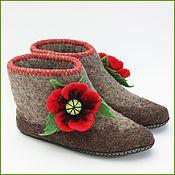"""Обувь ручной работы. Ярмарка Мастеров - ручная работа Валенки """"Маки2"""". Handmade."""