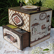 Для дома и интерьера handmade. Livemaster - original item Box,mini chest of drawers for tea and sweets