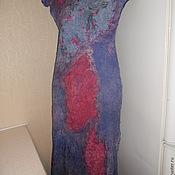 Одежда ручной работы. Ярмарка Мастеров - ручная работа летнее валяное платье Сиреневое. Handmade.