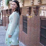 Одежда handmade. Livemaster - original item Mohair cardigan knitted