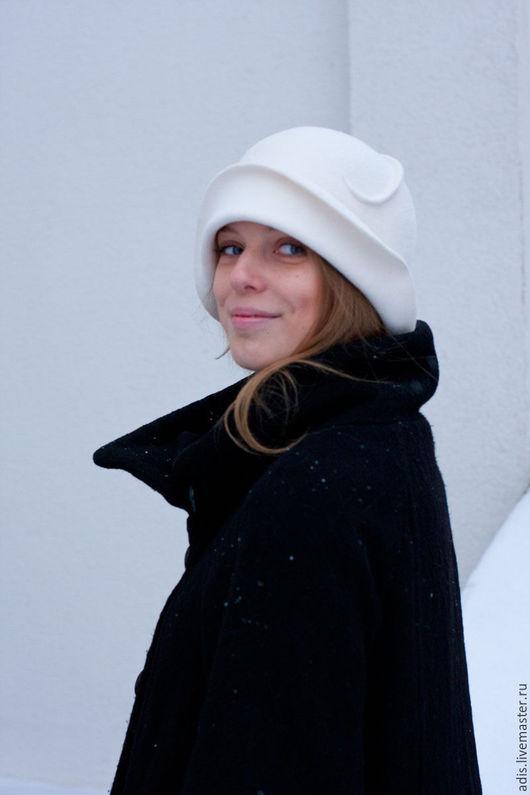 Шляпы ручной работы. Ярмарка Мастеров - ручная работа. Купить шляпа клош белый велюр. Handmade. Белый, шляпа ретро