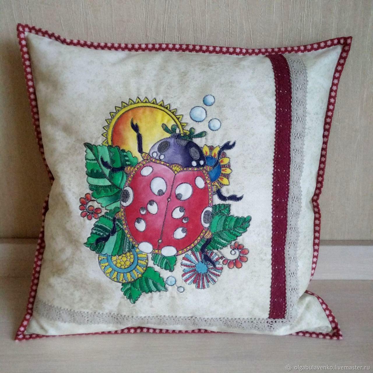Подушка с вышивкой идеи подушек вышивки украшения Рукоделие