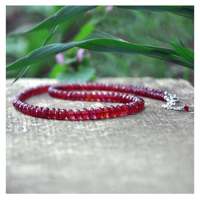 Колье из рубинов. Серебро 925. Рубины натуральные, Колье, Краснодар,  Фото №1