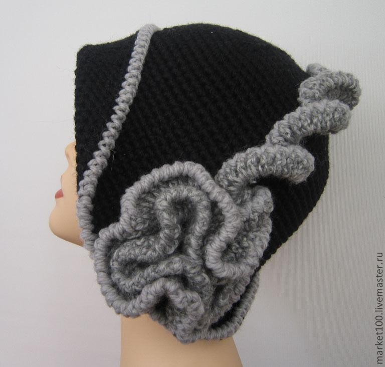 Вязание крючком шляпка парижанка