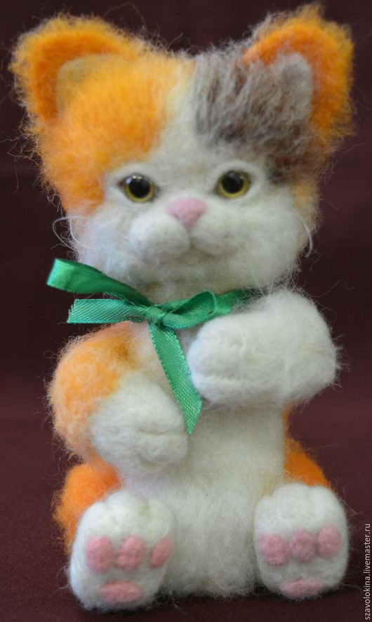 Игрушки животные, ручной работы. Ярмарка Мастеров - ручная работа. Купить Котёнок из шерсти Рыжик. Handmade. Интерьерный подарок