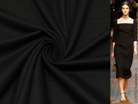 Шитье ручной работы. Ярмарка Мастеров - ручная работа. Купить ткань костюмная шерсть  стрейч черная  Германия. Handmade. Черный