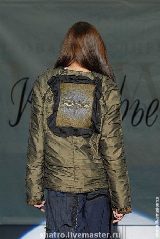 Верхняя одежда ручной работы. Ярмарка Мастеров - ручная работа. Купить куртка ХАКИ. Handmade. Хаки, женская одежда