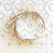 Украшения ручной работы. Ярмарка Мастеров - ручная работа Ободок из колосьев золотой. Handmade.