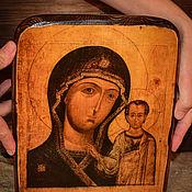 Картины и панно handmade. Livemaster - original item The Kazan icon of the Mother of God. Tree.. Handmade.