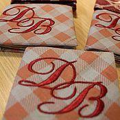 Аксессуары ручной работы. Ярмарка Мастеров - ручная работа Носовые платки  с вышитой монограммой. Handmade.