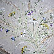 Для дома и интерьера handmade. Livemaster - original item Painting on linen. tablecloth.. napkin.. track.. panel... Handmade.