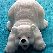 Материалы для творчества handmade. Livemaster - original item Silicone molds for soap polar bear lies. Handmade.