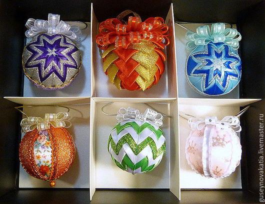Новый год 2017 ручной работы. Ярмарка Мастеров - ручная работа. Купить Новогодние шарики-3. Handmade. Комбинированный, новогодний подарок