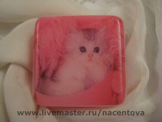 """Мыло ручной работы. Ярмарка Мастеров - ручная работа. Купить Мыло """"Котёнок"""". Handmade. Мыльная основа, бумага, основа"""